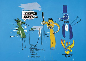 Jean-Michel Basquiat As Dingoes Isso Parque Pop Art Home Decor pintado à mão HD cópia da pintura a óleo sobre tela Wall Art Canvas Pictures 200305