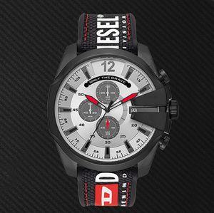 Горячие продажи новая мода роскошные мужские часы кожаный нейлоновый ремень несколько часовых поясов работа повседневная спортивная марка DZ Watch DZ4512