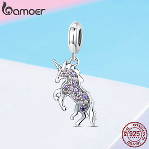 Making Style Pendant CZ Pandora Licorne Charms 925 Colorful Silver Animal Fit Bracelets Women Memory Necklaces Jewelry Sterling Apvwm