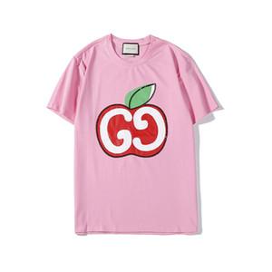 Mignon Big Apple Red Print Top qualité à manches courtes T-shirt Styles d'Europe des femmes des hommes O-Neck T-shirt à manches courtes Hommes Femmes B103666V