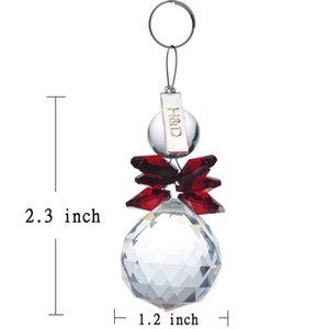 H&D Set of 2,Chandelier Crystals Ball Prism Suncather Rainbow Maker Chakra Snowman Christmas Decoration Pendant Home Ornament