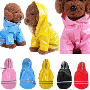 Pet Dog PU Raincoat Jacket Coat Waterproof Hoodie Colthes Puppy Apparel S-XL Super Cool 5 colors DDA504