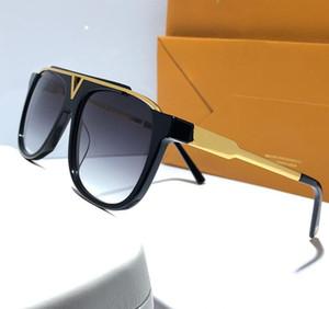 Prove di lusso Millionaire occhiali da sole retro annata degli uomini del progettista degli occhiali da sole Logo oro lucido Laser Summer Style placcato oro