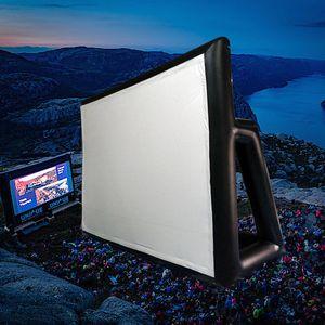 في نهاية المطاف شاشة السينما في الهواء الطلق نفخ شاشة الإسقاط المحمولة وسهلة البناء لفيلم الحديقة في الهواء الطلق في الهواء الطلق