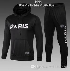 키즈 DI MARIA CAVANI 파리 트레이닝 슈트 축구 셔츠 유니폼 18 19 20 boys psg 축구 자켓 tracksuit 세트