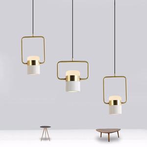 colgante estudio luz mesa de bar mesa de comedor Nordic Lights personalidad moderna y creativa colgante de acrílico LED de luz ac milan
