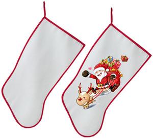 2020 Noel Dekorasyon İçin Sublime Noel Çorap Çorap Kişiselleştirilmiş Boş DIY Özel Noel Sıcak Transferi Malzeme Malzemeleri