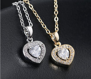 Cristallo ghiacciato fuori catene Il cuore della ciondoli di diamanti Ocean collana Titanic donne gioielleria collana progettista design di lusso