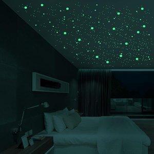 3D فقاعة مضيئة نجوم النقاط الجدار ملصق غرفة نوم الاطفال ديكور المنزل صائق الوهج في ملصقات DIY الظلام