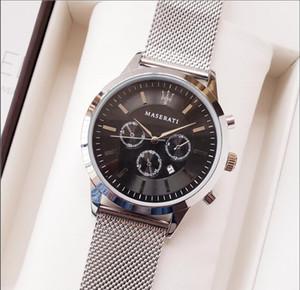Atacado New Retail relogio masculino luxo mens watch designer de moda diamante Black Dial Com Folding Clasp couro Master relógio Masculino