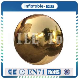 1m / 1.5m / 2m Durchmesser aufblasbarer Ballon Spiegel zum Verkauf, Reflektierende Inflatable Spiegelkugeln für Bühnendekoration / Weihnachten / Halloween