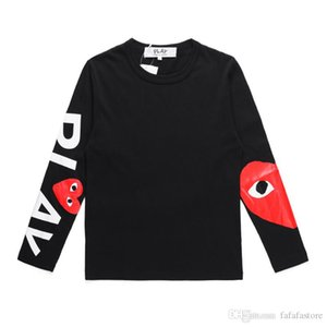 2019 Best Quality Com DES play GARCONS CDG HOLIDAY Heart Emoji Unisex PLAY long sleeve des garcons C131A Black Long Sleeve T-Shirt