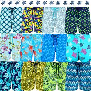 Vilebrequin Марка Мужские шорты черепаха звезды Surf Board Shorts Летний спорт Пляжный Homme Бермуды Брюки Quick Dry Boardshorts