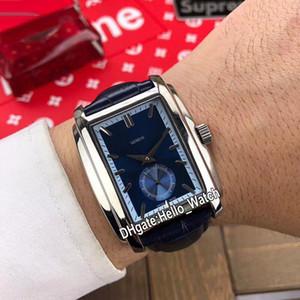 Yeni Gondolo 5124G-011 5124 Çelik Caes Mavi Dial Beyaz İç Otomatik Erkek İzle Deri Kayış Saat Yüksek Kalite Hello_Watch 6 Renk
