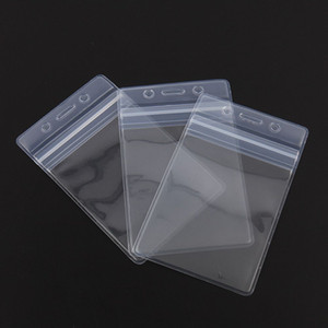 90 * 57mm PVC imperméable carte de visite Soft travail Carte des employés Titulaire en plastique Nouveau Durable ID étanche Badge Holder Nom de l'employé Mots clés