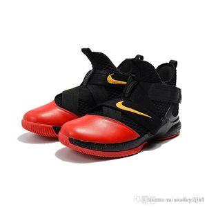 Lebron soldat 12 chaussures de basketball XII à vendre fleurs MVP Noël BHM Oreo jeunes enfants génération baskets bottes avec la taille 7 12
