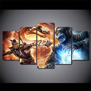 Mortal Kombat Vs Dc Universe,5 Pieces HD Canvas Printing New Home Decoration Art Painting (Unframed Framed)
