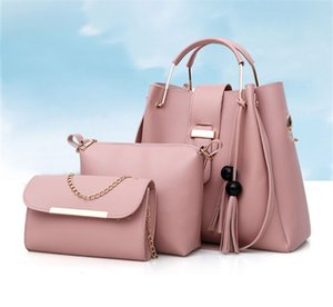 6colors New Women Pure Color Fashion Pearl Tassel Mother Bag Three Piece One Shoulder Bag PH-CFY20061635