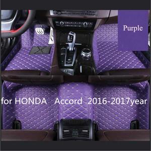 Para HONDA Accord nueve generaciones 2016-2017year antideslizante no tóxico pie pad coche pie pad