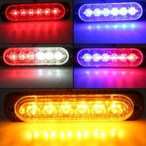 4шт автомобилей 6 LED вспышка строба Аварийное предупреждение свет Решетка проблесковый Lightbar Лампы 5 Стили 12-24V