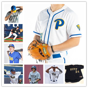 Personal NCAA PITT Pittsburgh Panthers Men Women Youth Any Number Name Stitched # 34 TJ Zeuch Baseball Jerseys S-4XL