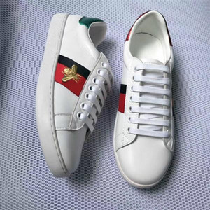 GUCCI 2019 bee best Designer shoes Men Womens Casual Shoes Bee Stripes Shoes Walking Sports Trainers Luxury Ace zapatillas de deporte bordadas