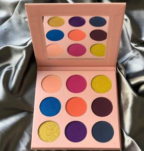 Toptan 9 Renkler Göz Farı Paleti Etiket yok Makyaj Göz Farı Paleti Pembe Karton Mat ve Işıltılı Göz Farı Paleti Makyaj Paletler