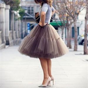 Petticoat Юбка 5 слоев Юп Туту Тюль Vintage Midi плиссированные юбки женщин Лолита невесты свадебное Faldas Mujer SAIAS 60см