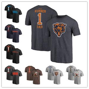 2019 Vatertag Carolina Pro Line Panthers Größte Chicago Nummer 1 VATI Bears T-Shirt Cincinnati Retro Grau Bengals Cleveland Kostenlos