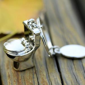 الجدة حلية البسيطة لطيف مرحاض سلسلة المفاتيح فضي اللون صديق مضحك هدية مفتاح الطوق كول فريد المياه خزانة