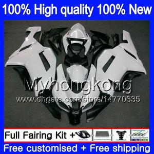 Body + 8Gifts für Kawasaki ZX 6R 6 R 600cc ZX636 2007 2008 209MY.10 ZX636 ZX600 600 ZX6R 07 08 ZX 636 ZX6R 07 08 Coole Pearl White Fairings