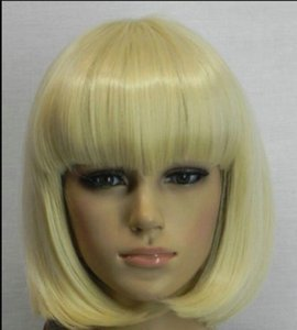 WIG NEW COS 송료 무료 신품 가발 BOB Style Short Light Blonde Straight Wig