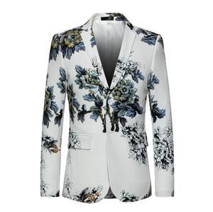 2020 men's suit Groom Lapel Wedding Blazer Men Slim Fit Flower Pattern Floral Suit Jacket High Quality Casual Male Blazer Prom Blazers w850