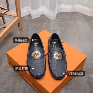 chaussures de haricots de mode en cuir automne printemps nouveaux hommes mode casual shore causales 021001