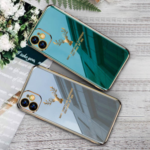 Phone Case for iPhone 11 Pro MAX XR XS Max X Soft gel TPU Plating Back Cover For Samsung