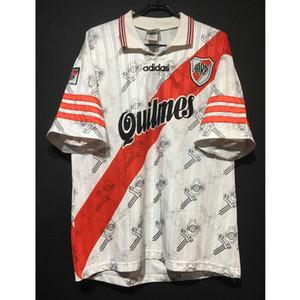Retro 96-98 River Plate Futebol Camiseta Futebol Clássico Jerseys Futbol Camisas Vintage Shirt Kit Maillot Maglia