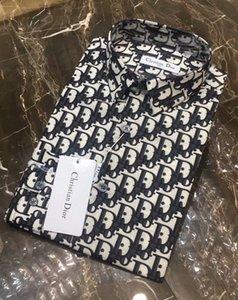 Mens kleiden Shirts Markenhemd Designer-Hemd Marke Kleidung 061 Langarm-Shirt Hip Hop Artqualität Baumwolle 2019 männliche Männer der neuen Ankunft