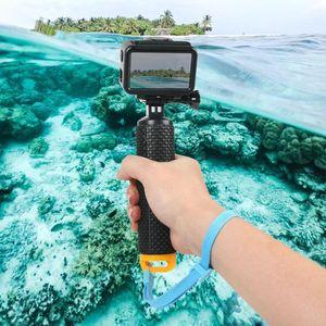Impermeável flutuante aperto de mão flutuabilidade Rods selfie Vara Com cordão para DJI OSMO GoPro SJCAM Xiaoyi Action Sport Camera