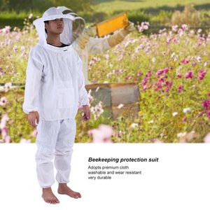 Beekeeping Jacket Veil Set Removeable Hat Anti-bee Protective Safety Coveralls Smock Equipment Supplies Beekeeping suit