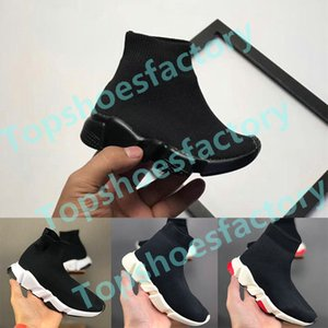 2020 Balenciaga Kids Sock shoes Luxury Brand  Sock children shoes Socken Schuhe Vetements Crew-Socken-Runner-Trainer-Schuhe Hight Top Sneakers Stiefel Eur 24-36