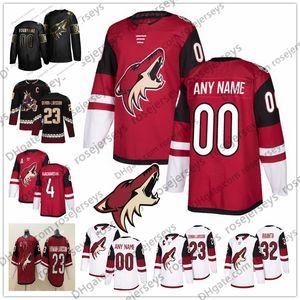 Personalizzato Arizona Coyotes 2019 Qualsiasi Numero Nome Rosso Bianco # 8 Nick Schmaltz 9 Clayton Keller 32 Antti Raanta 81 Phil Kessel Ekman-Larsson Jersey