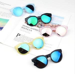 colore caramelle satinato occhiali da sole colorati lenti riflettenti per bambini Prova UV Occhiali da sole per bambini Occhiali da sole