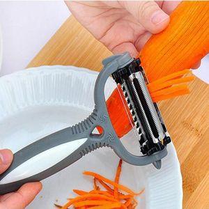 Multifonctionnel Rotary Peeler 360 degrés Carotte Pomme de terre orange Opener légumes fruits Slicer Cutter Accessoires de cuisine Outils YYA54