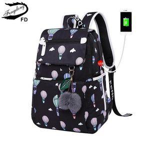 FengDong marca mochila para niñas mochilas escolares lindo pequeño bolso negro backpacfor adolescentes regalo de navidad año nuevo