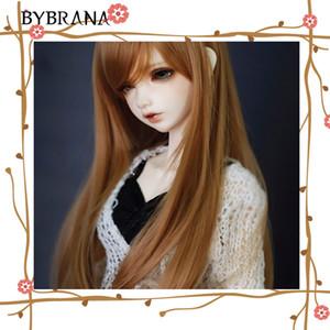 Bybrana стиль мода справедливый размер 1/3 1/4 БЖД СД МСД парики длинный коричневый высокая температура волокна волосы для кукол аксессуары