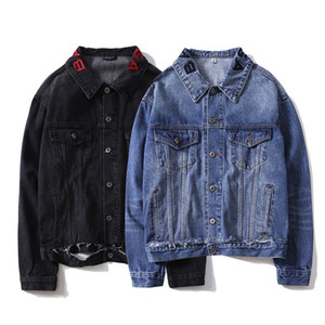 Stable Supply of Goods Fall And Winter Clothes Hot Selling Solid Color with Holes Denim Shirt Versitile Fashion Coat