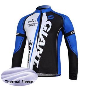 Erkekler Bisiklet Jersey Dev Takım Uzun Kollu Kış Dağ Bisikleti Gömlek Termal Polar Yarış Üstleri Yol Bisiklet Kıyafetler Spor Y081603