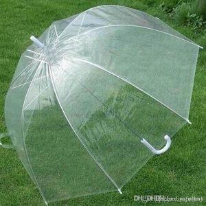 2018 klar Nette Blase Deep Dome Regenschirm Klatsch Mädchen Wind Widerstand transparent Pilz Regenschirm Hochzeitsdekoration