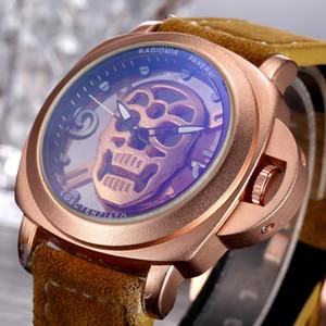 2019 yeni en çok satan hayalet kafa arama erkek izle rahat moda lüks İzle ünlü tasarımcı marka İzle kalite kuvars watchees erkekler watche