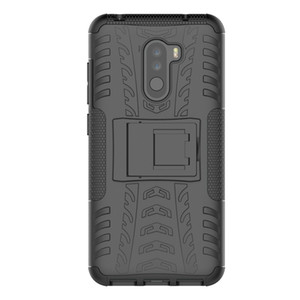 Shockproof Back Cover Armor Hard Silicone Case for Xiaomi Pocophone F1